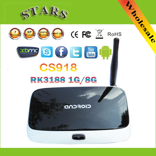 android 4.4.2 tv set top box Q7 CS918 Full HD 1080P RK3188T Quad Core Media Player 1GB/8GB XBMC Wifi Antenna with Remote Control pvt 898 5g 2 4g car wifi display dongle receiver airplay mirroring miracast dlna airsharing full hd 1080p hdmi tv sticks 3251