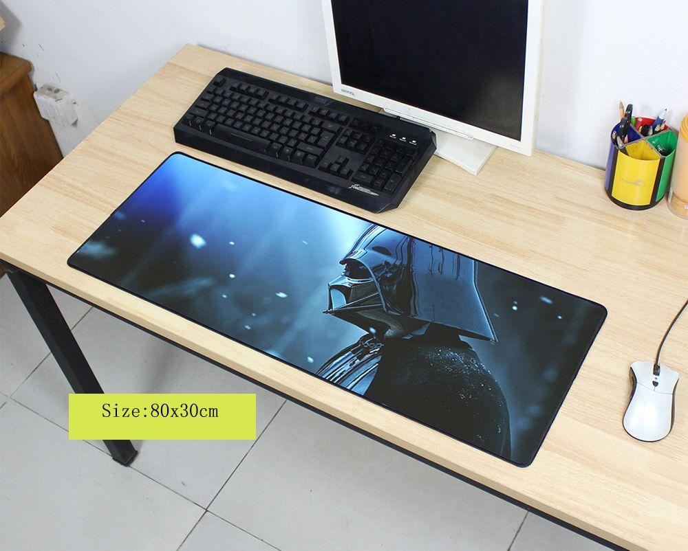 Alfombrilla de ratón de moda de star wars alfombrilla de ratón para ordenador portátil notbook ordenador 300x800x2mm alfombrilla de ratón para juegos