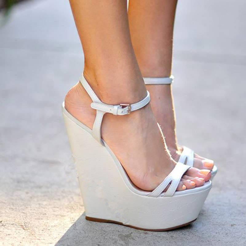 Nude no ankle strap wedges