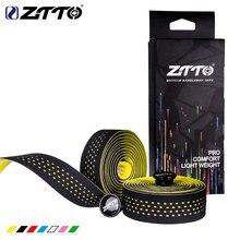 ZTTO, мягкий руль для шоссейного велосипеда из пробкового материала EVA, Полиуретановая лента для профессионального велоспорта, амортизирующая Антивибрационная пленка с 2 штекерами