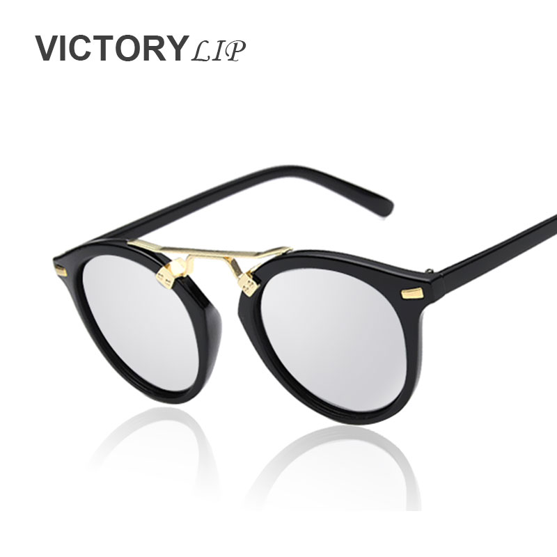 VictoryLip Hot sell 2016 Perfect fashion frame brand designer oval lens lady love sunglasses woman sun glasses female