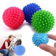 Пластиковые натуральные шарики для сушки белья без химических мягких тканей, шарики для стирки одежды, случайный цвет, два размера на выбор