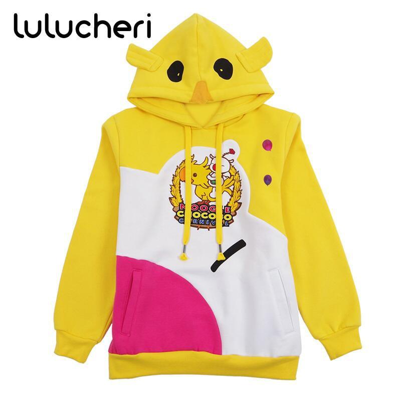 FF15 Moogle Chocobo Hoodies Final Fantasy XV Noctis Lucis Caelum Sweatshirts carnaval Halloween Costume manteau de noël