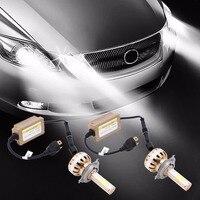 2Pcs 72W Hi Lo Replacement Car Headlight H4 Led 12V 6000K Auto Front Headlamp Bulb Automobiles