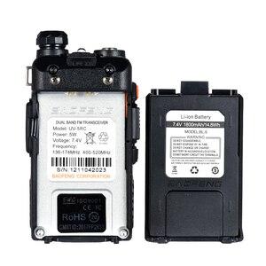 Image 4 - BaoFeng Walkie talkie UV 5RC 5W de alta potencia, banda Dual, Radio portátil, comunicador bidireccional HF, transceptor, aficionado, práctico, 2 uds.