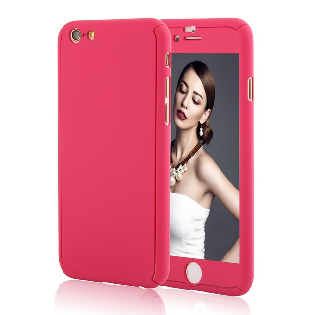 Adelie Coverage Cover Case For iPhone + Free Tempered Glass Film Protector