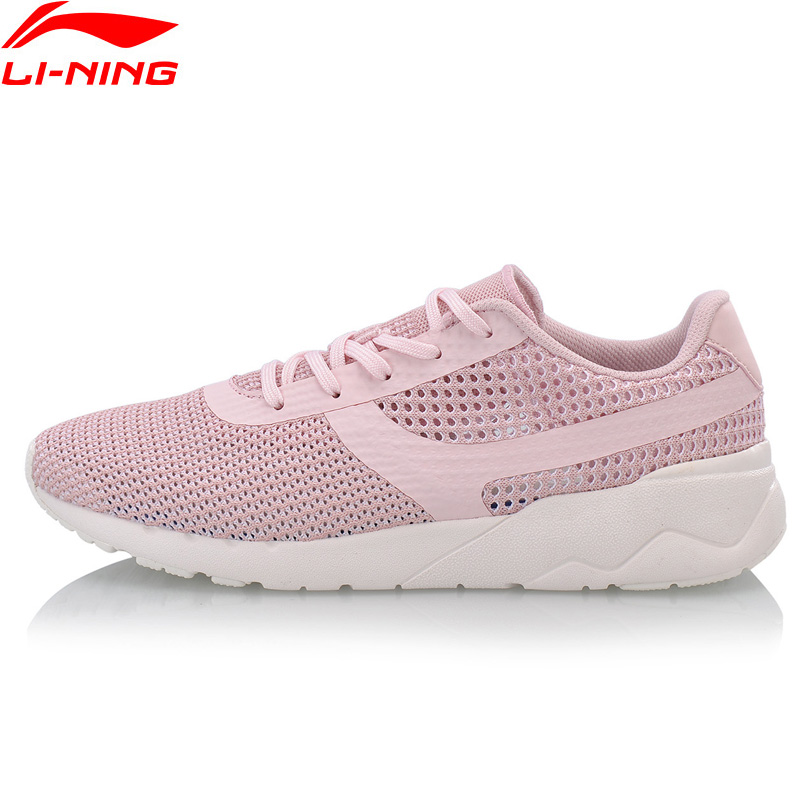 Li Ning Women HEATHER KNIT Classic Walking Shoes Light Comfort LiNing Sports Shoes Fitness Breathable Sneakers