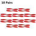 Fpv 8045 Props 80x45 Cw/ccw Propeller For Multicopter Quadcopter Airplanes Plastic Prop Red 10 Pairs
