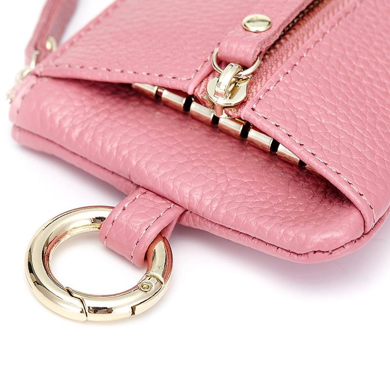 2017 new leather key case small purse multifunctional key leather bag card pack Key Holder Housekeeper Keys Organizer Purse