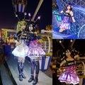 Amor despertar de juego en vivo hanayo cosplay rin nico umi nozomi kotori maki honoki eliayase iluminación uniforme brillante dress