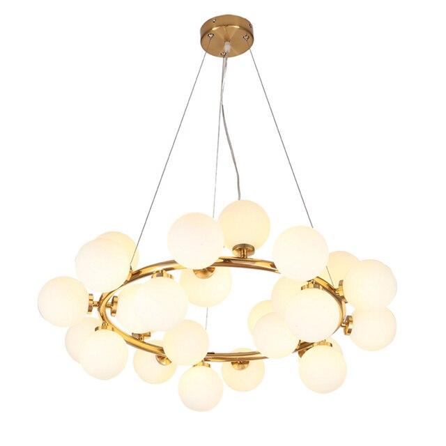 25 Kopf Nordic Kreative Kreis Led Kronleuchter Licht Runde Blase Glas  Lampenschirm Villa G4 LED Lampe