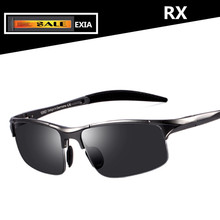 Men Sunglasses Polarized Prescription Lenses of Optical Sun Glasses UV400 AR Green EXIA OPTICAL KD-320