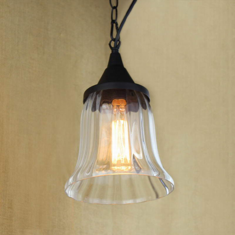 Etro Hanging Clear Glass Cup Pendant Lamp With Edison Light Bulb|kitchen Lights And Cabinet Lights
