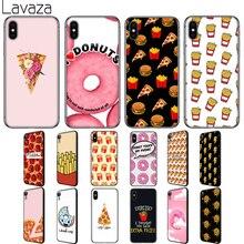 Lavaza Frites Donuts Pizza Essen Weichen Silikon Fall Abdeckung für Apple iPhone 6 6S 7 8 Plus 5 5S SE X XS 11 Pro MAX XR