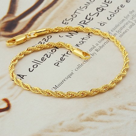 Fashion Jewelry Twist 18k Yellow Gold Filled Bracelet Bangle