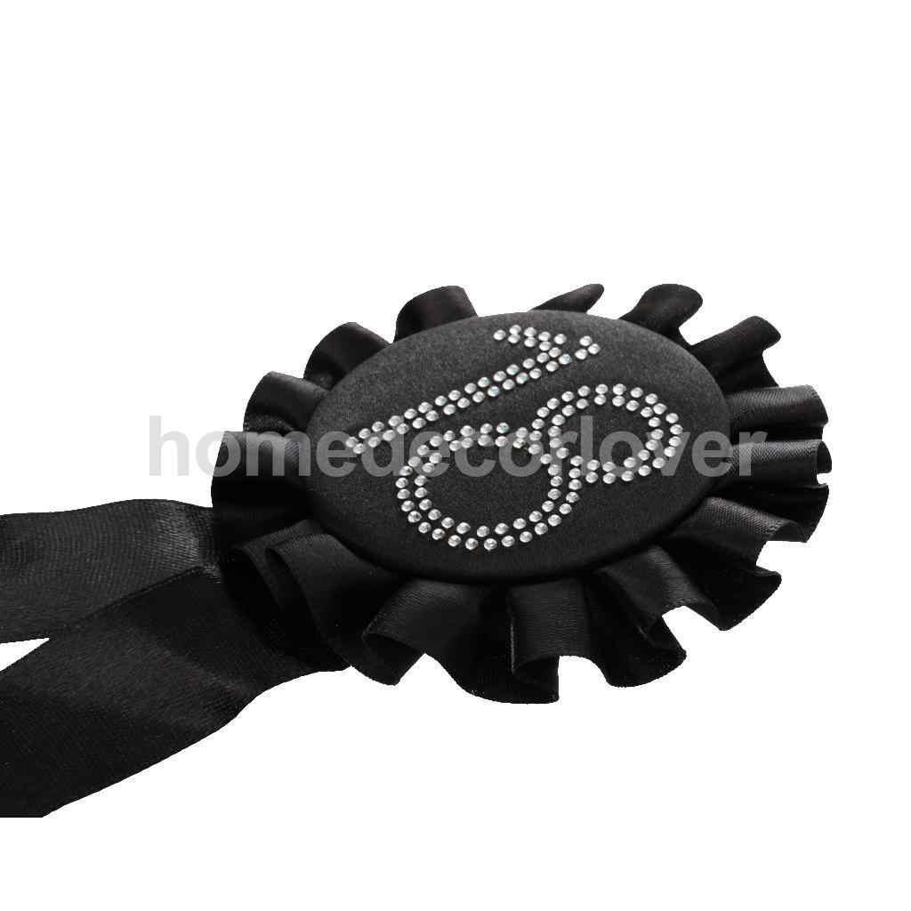 Diamante strass numéro 50 rosette badge noir 18th anniversaire