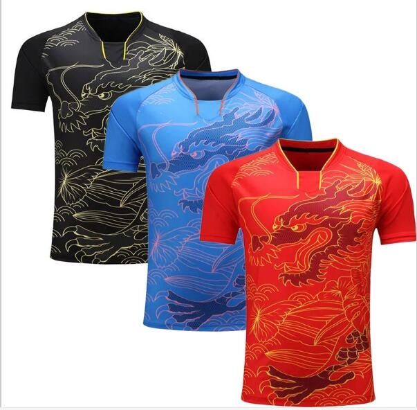 China Dragon Table Tennis Shirt Men Badminton Jerseys Ping
