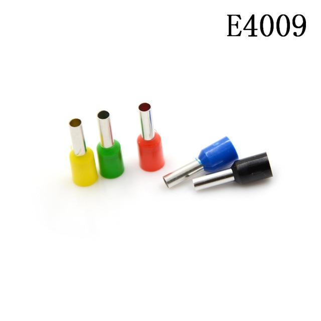 100 Teile/paket E4009 Rohr isolationsklemmen 4MM2 Isolierte Kabel ...