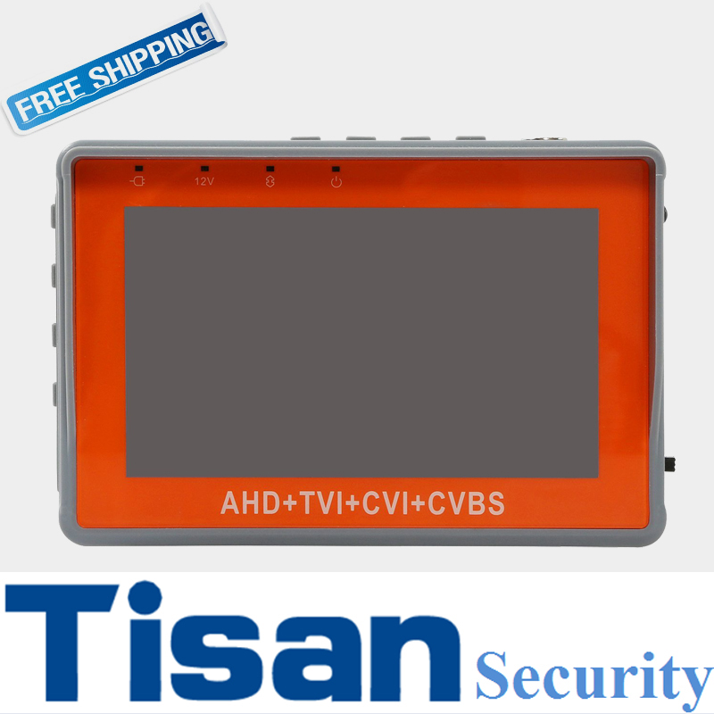 New 4.3 inch HD AHD CVI TVI CCTV Tester Analog camera tester CVBS test monitor With PTZ test UTP Test Audio test DC12V output  dhl fedex frees shiping new product pro security ahd hybrid cctv tester 3 5 tft cctv camera video ptz tester brand new