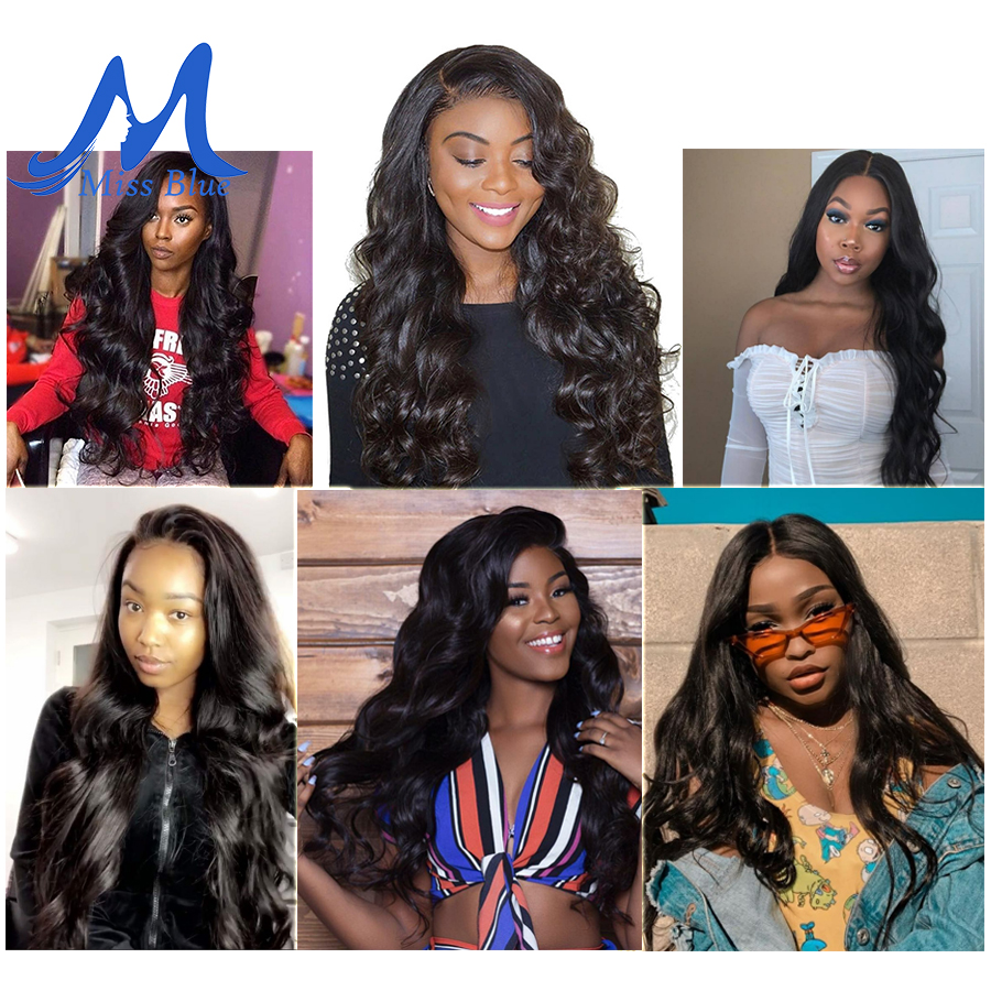 Missblue 10A Mink Quality Brazilian Virgin Hair Bundles Body Wave Grade 10A Raw Human Hair Weave Bundles Extension 1 3 4 P/Lots 2
