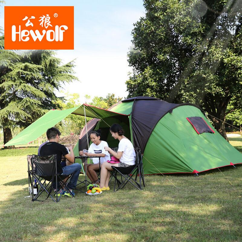 Large camping tent outdoor camping tent family 4-6 person sun beach tents tourist equipment
