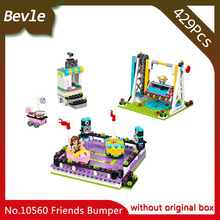 Bevle Store Bela 10560 429pcs with original box Friends Series Playground bumper car Building Blocks For Children Toys 41133