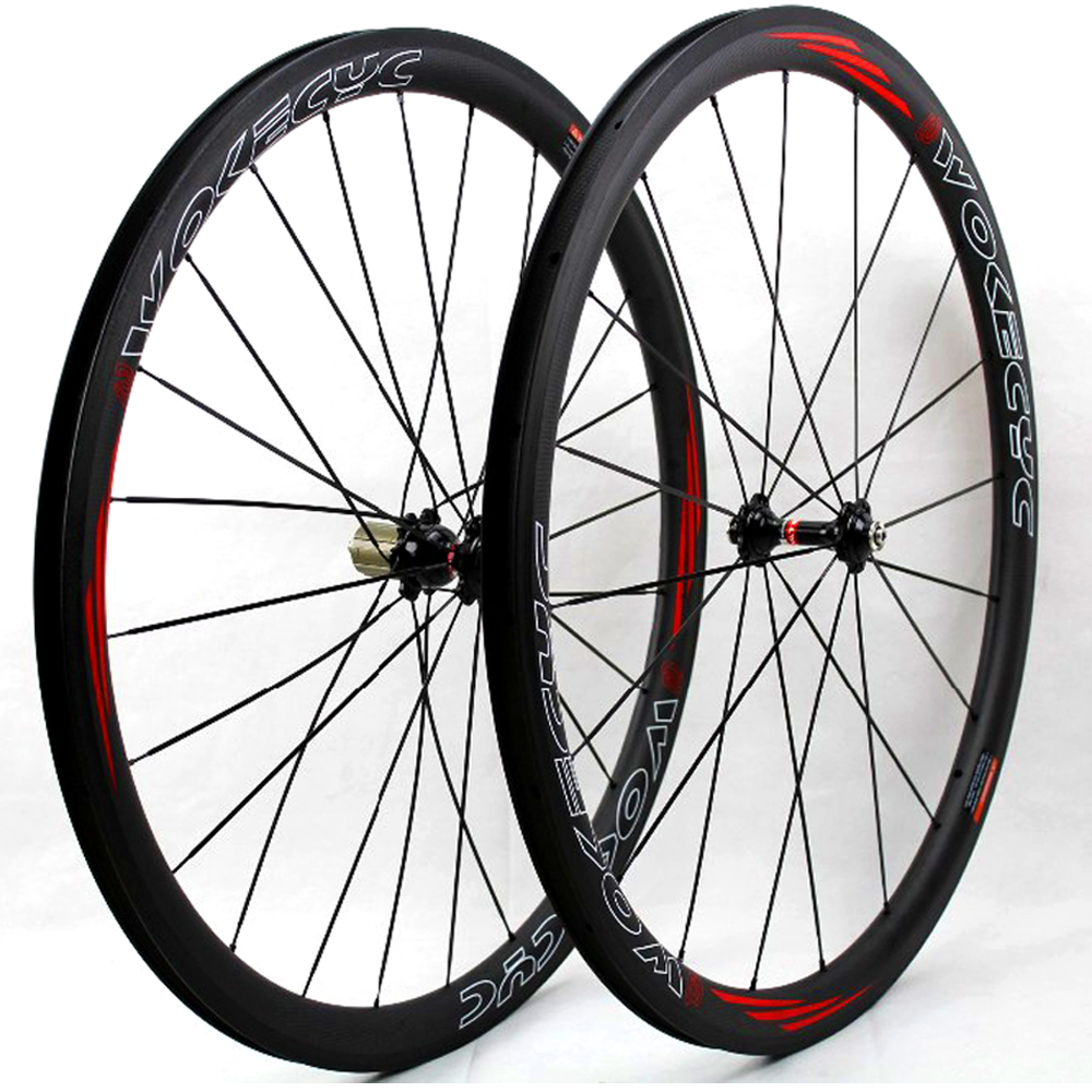38mm Carbon Road bike wheels 700C clincher Carbon fiber bicycle cycling racing wheelset 25mm wheel rim