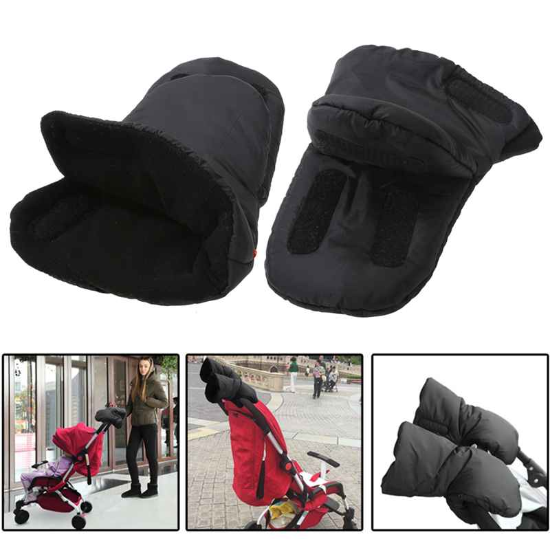 1 Pair Baby Pram Stroller Gloves Warm Fleece Pushchair Hand Gloves Baby Buggy Clutch Cart Muff Gloves Stroller Accessories beautiful design baby buggy kids pram dsland modern baby stroller professional technology and good service fast delivery