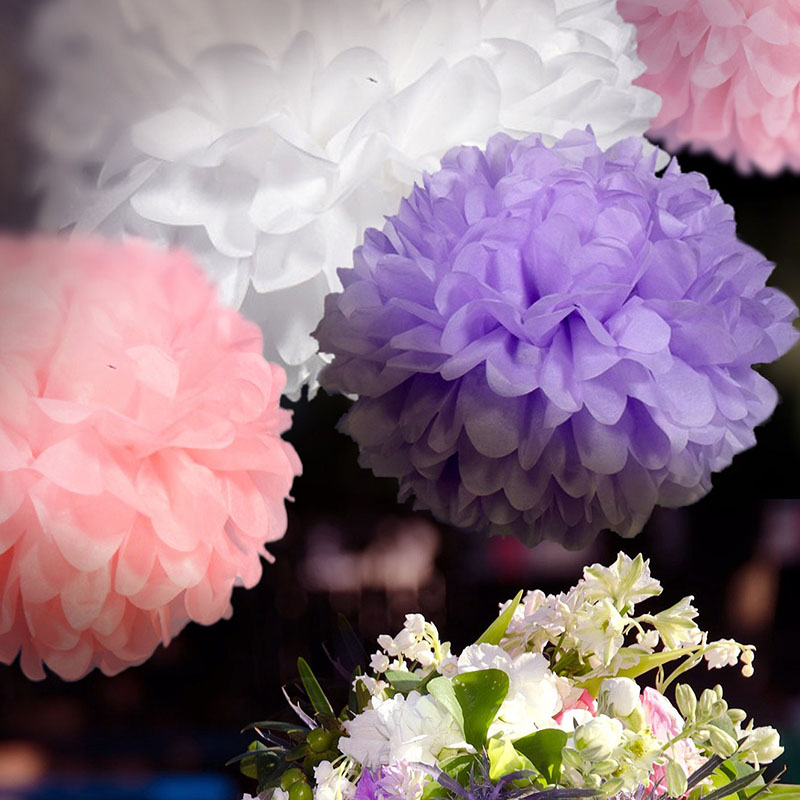"DIY 10""(25 CM) Decorative Tissue Paper Pom Poms Paper Flower Ball for Baby Shower Birthday Wedding Party Decorations"