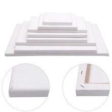 Белая пустая квадратная деревянная рама с холстом для грунтованной масляная Акриловая картина Картина DIY настенная фоторамка постер картина холст