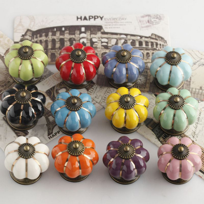 Dia 40mm Ceramic pumpkin knob for Kids Children, Ceramic Furniture ...