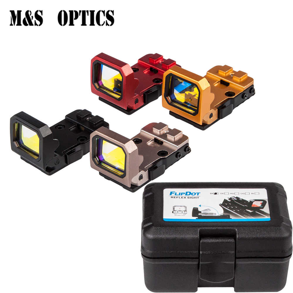 m&s otpics aim holographic reflex flip up hunting red dot pistol glock sight  for airsoft gun