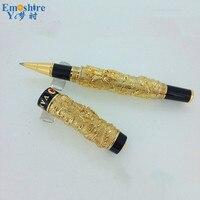 Moda Top Quality Oro Rullo di Penna A Sfera Design Classico Di Lusso Penne per la Scrittura Scuola Ufficio di Cancelleria Forniture JH04