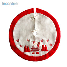 2017 Limited Real Fashion High-grade Embroidery Christmas Dress Ornament Santa Claus Tree Skirt Apron Supplies Free Shipping