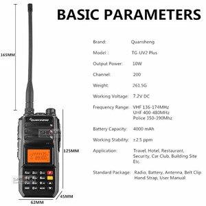 Image 3 - Super 2 pièces QuanSheng TG UV2 Plus 10W longue portée talkie walkie 10 KM 4000mah jambon Radio 10 KM vhf uhf double bande jambon Radio 10watts
