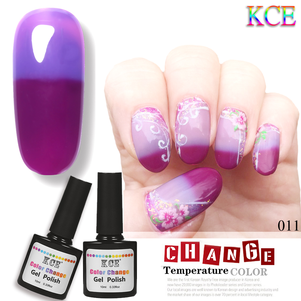 Nail Gel Brands: KCE Brands Nail Gel Polish Temperature Change Nail Color