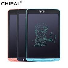 CHIPAL 12 كمبيوتر لوحي LCD بشاشة للكتابة محو جزئيا لوحة الرسم الإلكترونية سميكة القلم تسليط الضوء على منصات أقراص رقمية + بطاريةأقراص رقمية