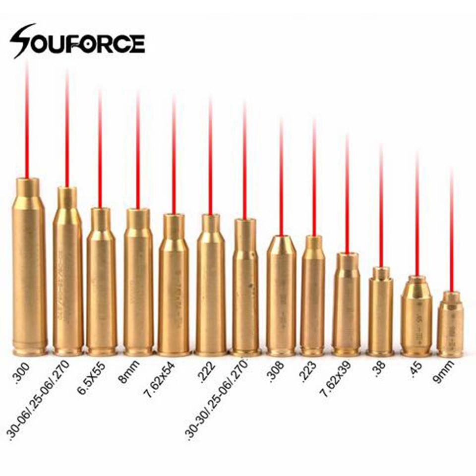 Nuevo punto rojo láser de cobre de latón boresight CAL cartucho calibre sighter para alcance de ajuste