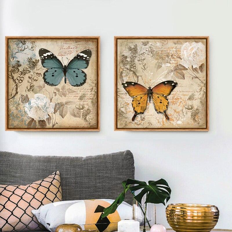 Magnífico Impresiones De La Mariposa Enmarcado Colección - Ideas ...