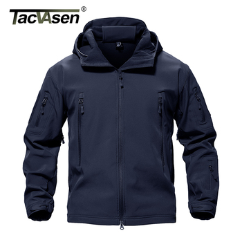 TACVASEN Army Camouflage Airsoft Jacket Mens Military Tactical Jacket Waterproof Softshell Outwear Coat Windbreaker Hunt Clothes 2