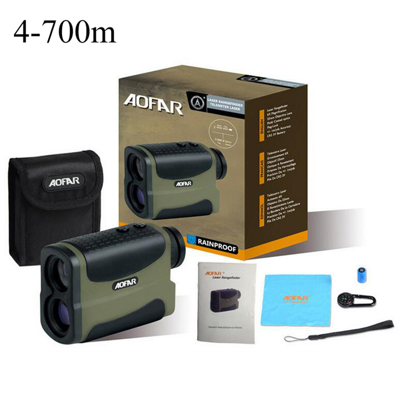 Hunting Monocular 6X25 Telescope Accurate Golf Laser range finder speed measurement Rangefinder with 700m ranging for golf sport  цены