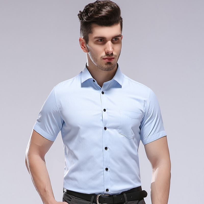 2018 Summer Fashion Short Sleeve Shirt Men Business Formal Shirt Male Working Office Wear Camisa Social Masculina