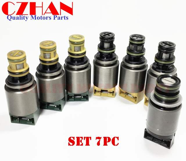 US $154 22 22% OFF|ZF6HP19 ZF6HP26 6 SP RWD for Jaguar Hyundai VW Audi BMW  Transmission control solenoid valve 6HP19 6HP26 6HP32 set 7pc Brand -in