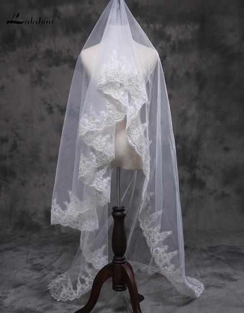 Bridal Veil White/Ivory 3m Long Wedding Veil Mantilla Wedding Accessories Veu De Noiva with Sequins