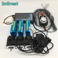 3 Sets 8.5Nm Nema34 86MM Hybird Closed Loop Stepper Motor Driver Easy Servo &3 Axis Offline Controller G PLC + MPG Kits for CNC