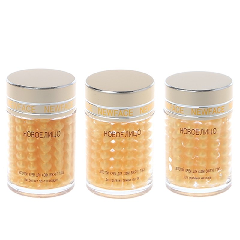 1PC New Face 30g Gold Essence Granule Eye Cream Anti Repairing Dark Circles Bag Wrinkles For Night Females Lady Anti Puffiness
