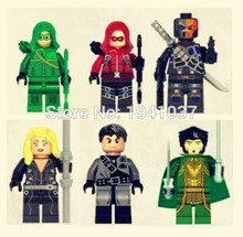 Wholesale Decool 0232-0237 Super Heroes Avengers Minifigures Green Arrow Bricks Blocks Action Baby Toys comtatible with legao