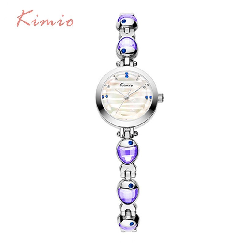 KIMIO Water Phantom Pattern Venus Fish Gemstone Bracelets Quartz Watch Woman Luxury Famous Brand 2018 Women Dress Wrist Watches
