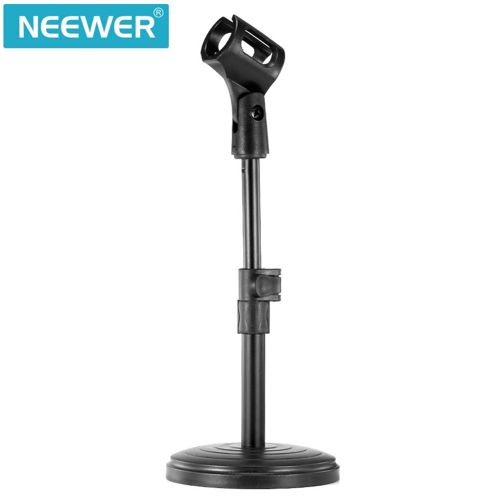Mikrofonstativ Unterhaltungselektronik Hilfreich Neewer 8 /20 Cm Schwarz Eisen Basis Schreibtisch Mikrofon Stehen Mit Mikrofon Clip