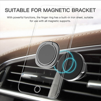 Baseus Metal Finger Ring Holder For iPhone XS 8 Samsung Phone Ring Mobile Phone Holder Stand For Magnetic Car Phone Holder Stand 4